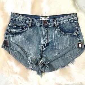 One X OneTeaspoon Bandits distressed cutoff shorts